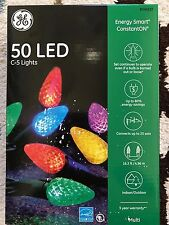 GE Energy Smart 50-Count Constant Multicolor LED Plug-In C5 Copper String Light