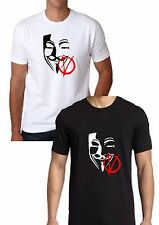 ANONYMOUS MASK  UNISEX TSHIRT V FOR VENDETTA T SHIRT S-XXL FUNNY JOKE GIFT