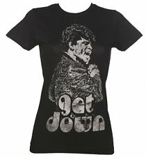 Official Women's Black Get Down James Brown T-Shirt from Goodie Two Sleeves