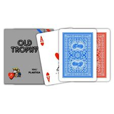 ★Carte POKER PL OLD TROPHY MOTO Blu o Rosse Modiano - 300460_300462