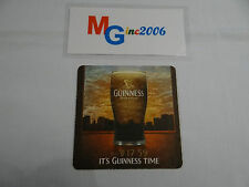 GUINNESS IT'S GUINNESS TIME 2008 SQUARE BEER MAT / COASTER UNUSED (No2)