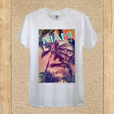 Miami Summer Palms Creative T-shirt Design joy high quality unisex women fitted