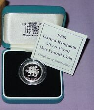 1995 Welsh Dragon Piedfort £1 One Pound Silver Proof Coin