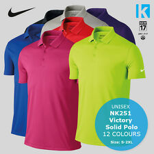 Nike NK251 Mens Victory Solid Dri-Fit Golf Tennis Polo Shirt 12 Colours Sports
