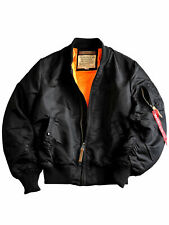 Alpha Industries Jacke MA1 VF 59 Long Schwarz  Bomberjacke Fliegerjacke #6057