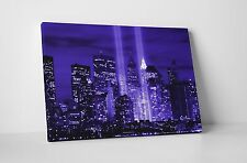 NEW YORK CITY CANVAS WALL HANGING IMAGE PHOTO BLUE CITYSCAPE SKYLINE NYC
