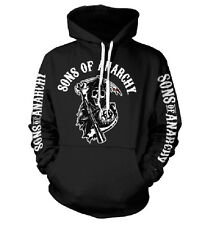 SONS OF ANARCHY LOGO felpa cappuccio hooded sweat-shirt official license