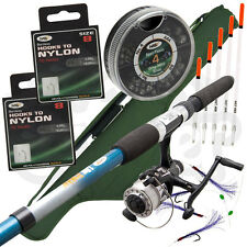 Telescopic Travel 6 8 10 12ft Rod & Reel Complete Set Tackle Sea Coarse Fishing
