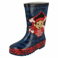 Boys Disney Jake and The Neverland Pirates Blue Wellies / Wellington Boots