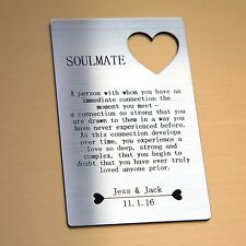 Personalised Soulmate Wallet Card - I Love You Valentines Gifts For Him/Her