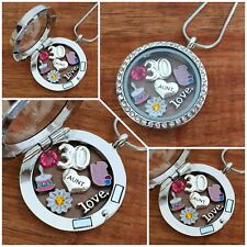 Personalised BIRTHDAY Gifts Floating Memory Locket Necklace 15th 16th 21st 50th