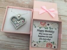 Personalised BIRTHDAY Gifts Floating Memory Locket Necklace 15th 16th 18th 21st