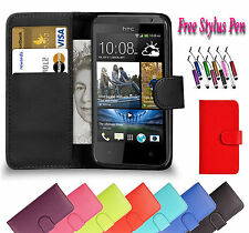 PU Magnetic Wallet Flip Leather Book Case Holder Cover For HTC One M7 UK