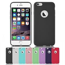COVER SILICONE CUSTODIA MORBIDA TPU GEL PER APPLE IPHONE 6 6S VARI COLORI
