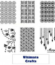 Ultimate Crafts - EMBOSSING FOLDERS - White Christmas Collection - CHOICE OF 6