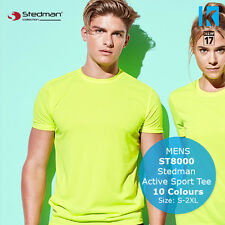 Stedman Cool T Tee T-shirt Active Dry Polyester sports Running Top S 2XL Gym Men