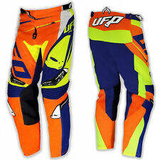 PANTALONI UFO MOTO CROSS REVOLT OFF ROAD ENDURO ADULTO ARANCIO BLU GIALLO