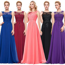 Women Lace Wedding Evening Formal Party Cocktail Gown  Bridesmaid Prom Dress 10