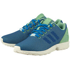 New Mens adidas ZX Flux Weave Super Green Running Sports Shoes Trainers Sneakers