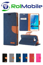 Funda TPU con Tapa Tipo Cartera Canvas Book para Samsung Galaxy J7 2016