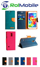 Funda TPU con Tapa Tipo Cartera Canvas Book para Samsung Galaxy S5