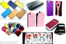 Silicon / Plastic / Leather Slim Flip Case Cover Fr Apple iphone 4 4G UK Post