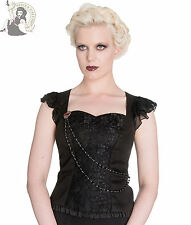 SPIN DOCTOR OPHELIA gothic ALTERNATIVE TOP goth SHIRT BLACK