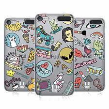 HEAD CASE DESIGNS PRINTED SASSY PINS HARD BACK CASE FOR APPLE iPOD TOUCH MP3