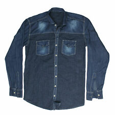 Greentree Men's Casual Denim Shirt Cotton Jeans Shirt MAST24