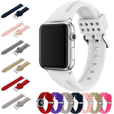 Sport Silicone Wrist Band Clasp Bracelet Strap For Apple Watch iWatch 38/42mm