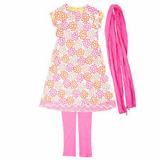 Baby Girls Ethnic Wear Ambi Printed Cotton Kurta/Chudidar (Legging)Set Dupatta