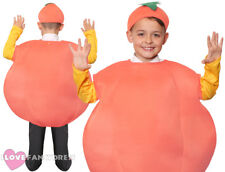 GIANT PEACH COSTUME KIDS WORLD BOOK DAY FANCY DRESS COSTUME HAT BOYS GIRLS CHILD