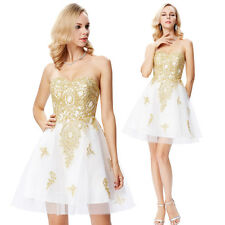 Appliqued Short Mini Prom Evening Cocktail Dress Formal Bridesmaids Wedding Gown