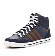 Adidas Mens Cacity Mid Navy Blue Hi-Top Trainers Shoes Lace Up Sneakers