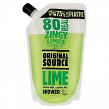Original Source Lime Shower Gel 500ml Pouch. Eco Friendly Packaging