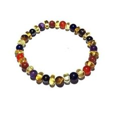 Adult Elysium Honey Amber Gemstones Stretch Bracelet Love Amber