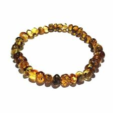 Adult Earthy Rare Green Baltic Amber Stretch Bracelet