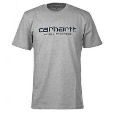 Carhartt WIP Script T-Shirt heather grey / navy - Basic Logo T-Shirt