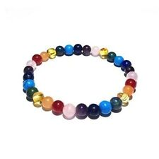 Adult Skittles Honey Amber Gemstones Stretch Bracelet Love Amber x UK