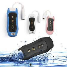 Mini LED Lettore MP3 Musica Player 4GB Impermeabile IPX8 Radio FM + Cuffie