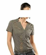 ALBA MODA Laser-Cut-Out-Bluse taupe 234.251
