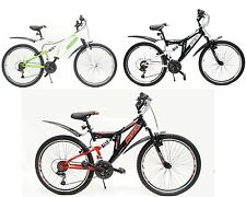 "26"" Zoll Mountainbike MTB Fahrrad 21 Gang Shimano Grip-Shift Fully Vollgefedert"