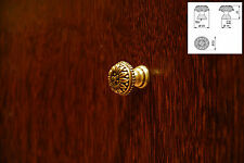 Antique Brass Finish Kitchen Units Drawer Cupboard Cabinet Pull Handles Knob