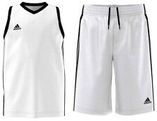 ADIDAS BOYS PERFORMANCE COMMANDER BASKETBALL JERSEY + SHORTS FULL KIT STRIP 9-16