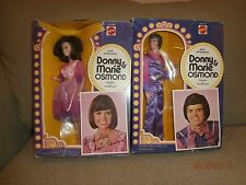 DONNY AND MARIE OSMOND DOLLS 1976 Set Of 2 MATTEL Rare VINTAGE New in Box