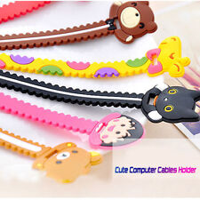Cute Animal Earphone Computer Cables Wrap Winder Wire Holder Organizer