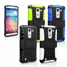 Yousave Accessories Hard Hybrid Tough Grip Combo Phone Case Cover For LG G Pro 2