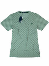 Fred Perry T-Shirt Grau Checkerboard M1560 420 Steel Marl #7083