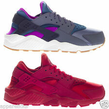 Nike Women's Air Huarache Run Triple Red Running Gym Sports Trainers
