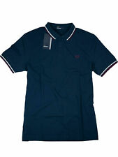 Fred Perry Polo - Shirt M3600 D58 Deep Night / Navy / Weiß / Bordeaux #7096